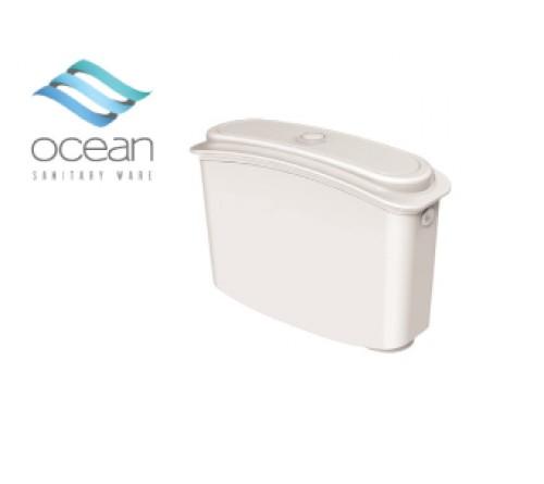 Ocean Καζανάκι Πλάτης Πλαστικό Λευκό