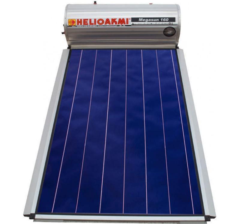Ηλιακός θερμοσίφωνας ΗΛΙΟΑΚΟΜΗ MEGASUN GLASS 160 Lt  /2.62 Τ.Μ. ΕΠΙΛΕΚΤΙΚΟΣ  ΣΥΛΛΕΚΤΗΣ  (ΔΙΠΛΗΣ ΕΝΕΡΓΕΙΑΣ)