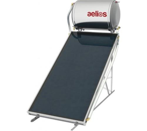 Ηλιακός θερμοσίφωνας NOBEL AELIOS 120 lt/ 2 M 2 - Glass – Επιλεκτικός  ALS - Διπλής Ενέργειας - Βάση Ταράτσας